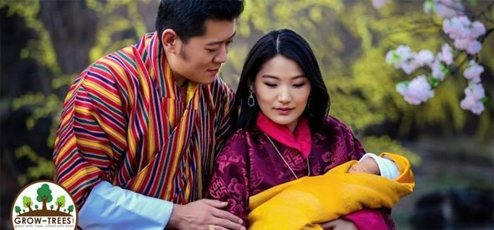 Bhutan celebrates newborn Prince by planting 108,000 Trees
