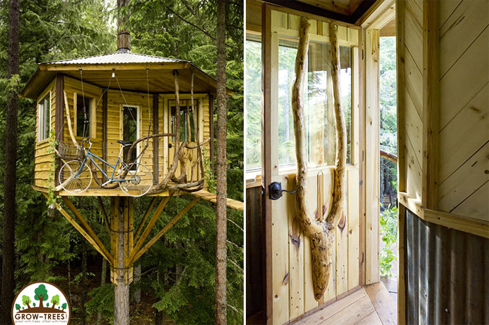 Beautiful Treehouse With A Bicycle Elevator Blog