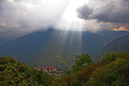 How has Bhutan become carbon negative?