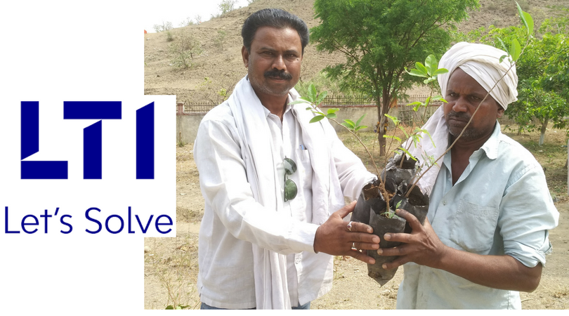 Larsen and Toubro Infotech supports the plantation of 11, 562 in the drought-prone region around the village of Nimbhora, Maharashtra